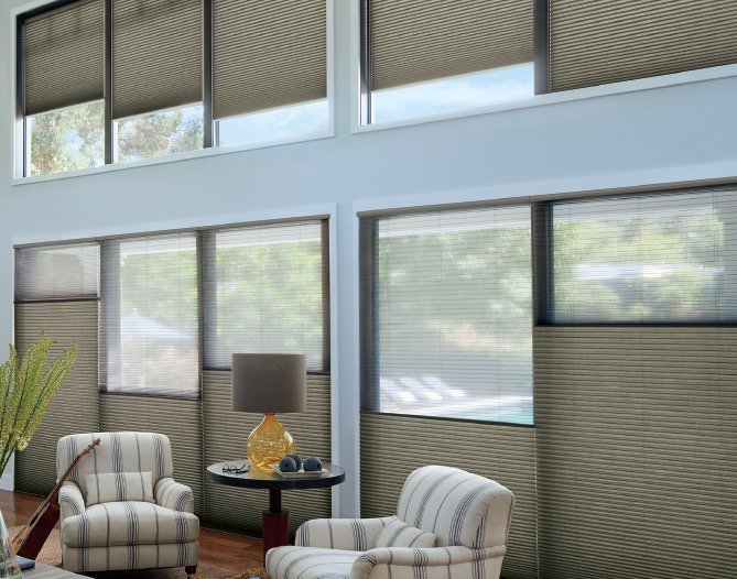 Sonnette™ uette® honeycomb shades, available at LNG Blinds.