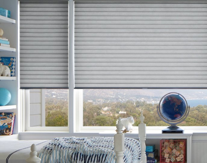 Sonnette™ Cellular Roller Shades, available at LNG Blinds.